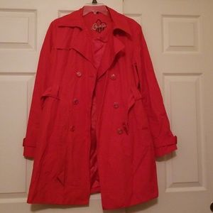 Guess red trench coat